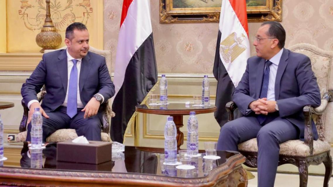 رئيس الوزراء المصري ونزيره اليمني في القاهرة اليوم (سبأ )
