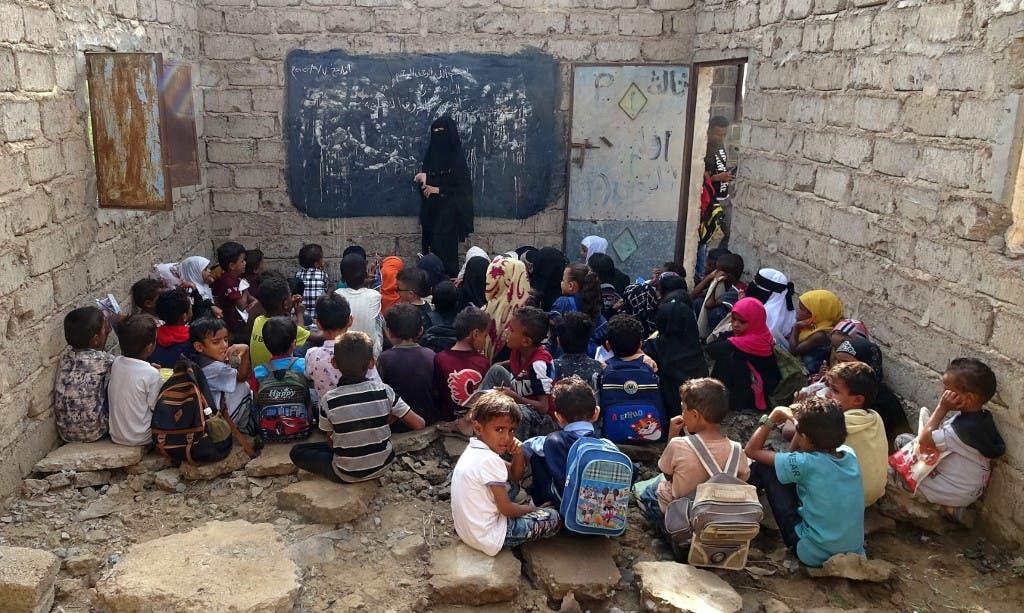 من فصل دراسي في احد المدارس في مدينة الحديدة في اليمن - أرشيفية فرانس برس