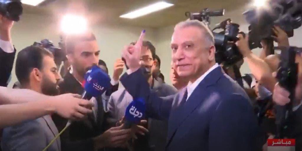 مصطفی الکاظمي بعد الإدلاء بصوته