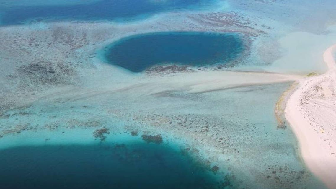Al-Dhafra Blue Hole in Abu Dhabi, UAE. (ADMO)