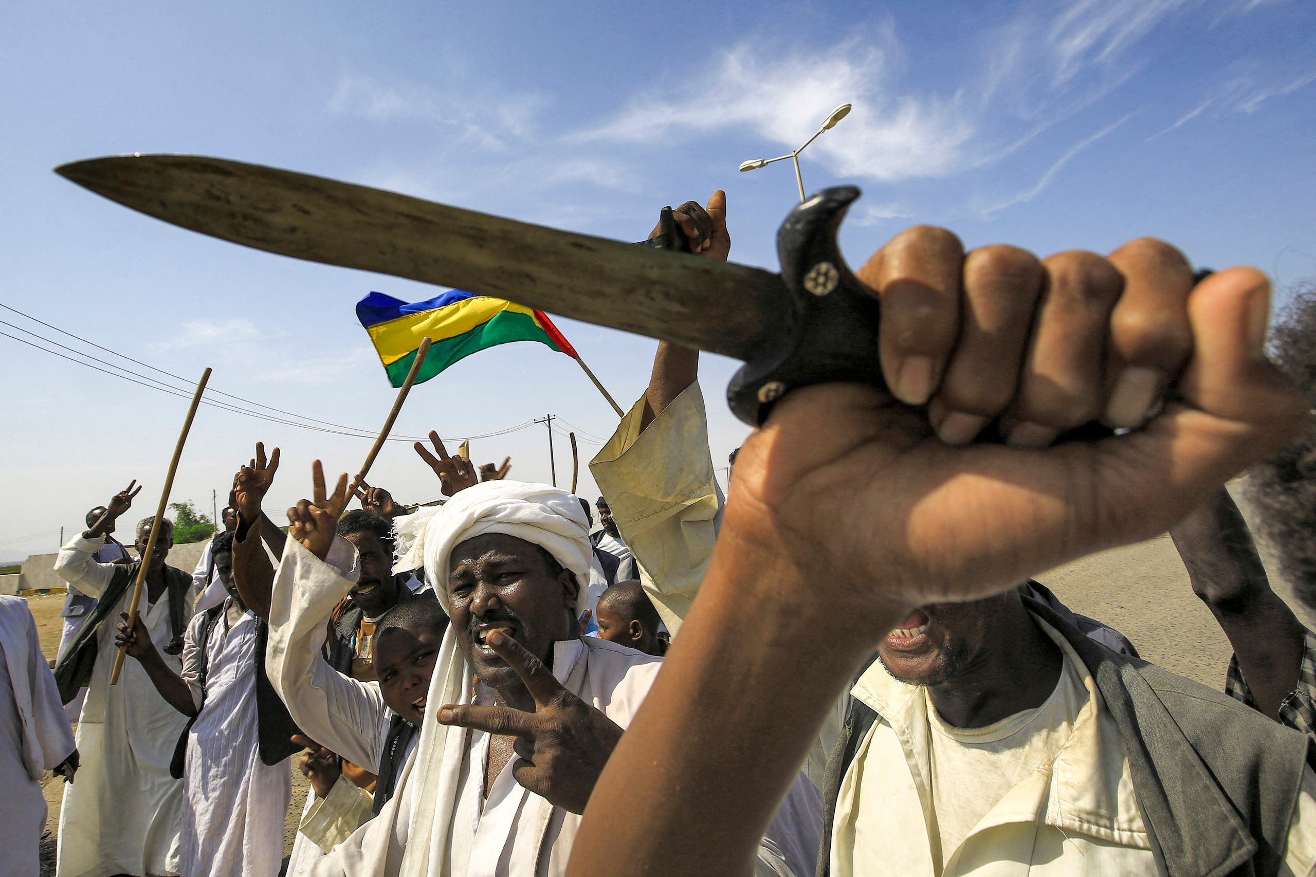 From protests in eastern Sudan (archive - AFP)
