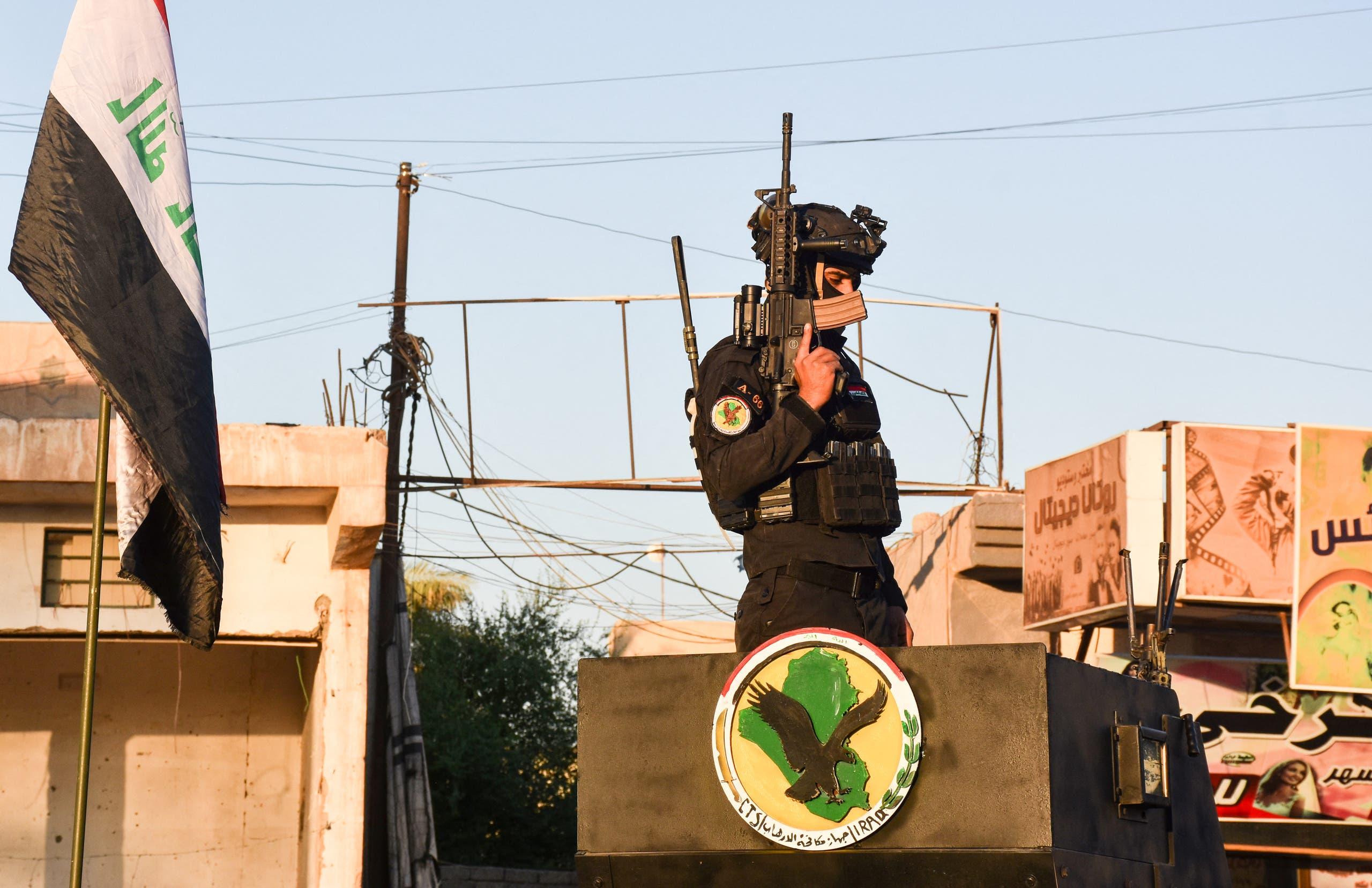 قوات أمنية تنتشر في بغداد (فرانس برس)
