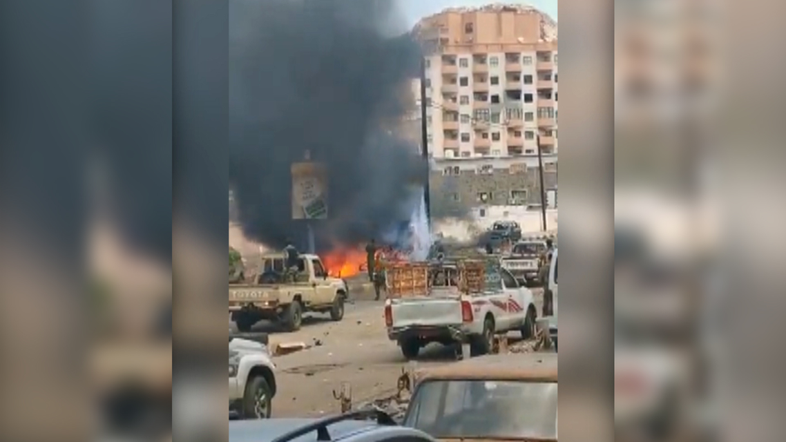 Still image taken from a video reportedly showing the car bomb attack circulating on social media. (Twitter)