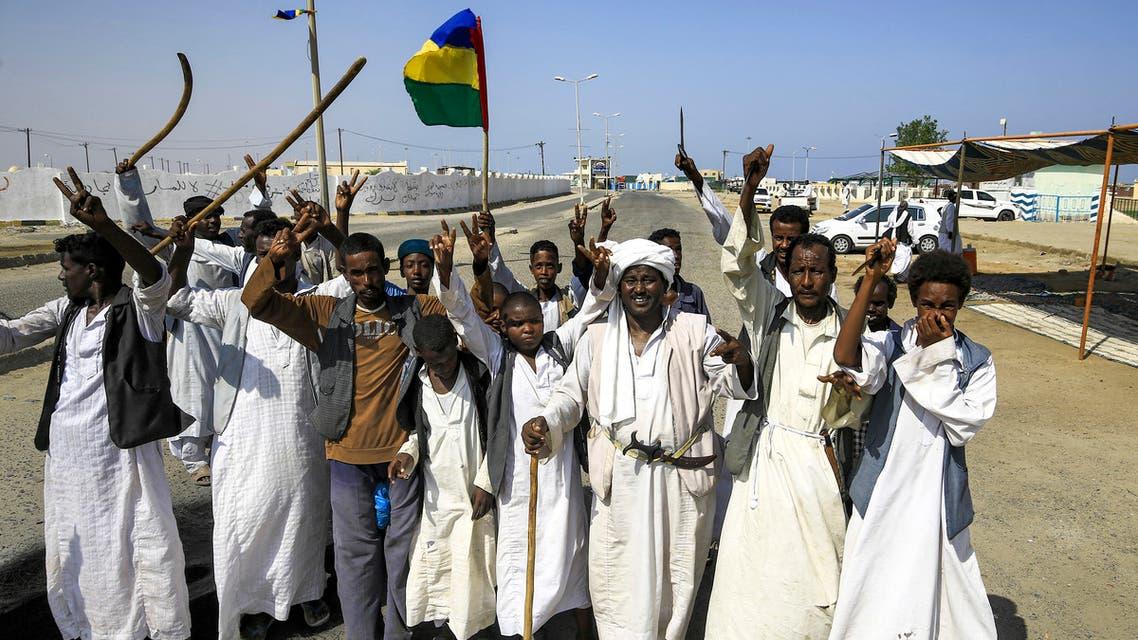 من احتجاجات شرق السودان (أرشيفية- فرانس برس)