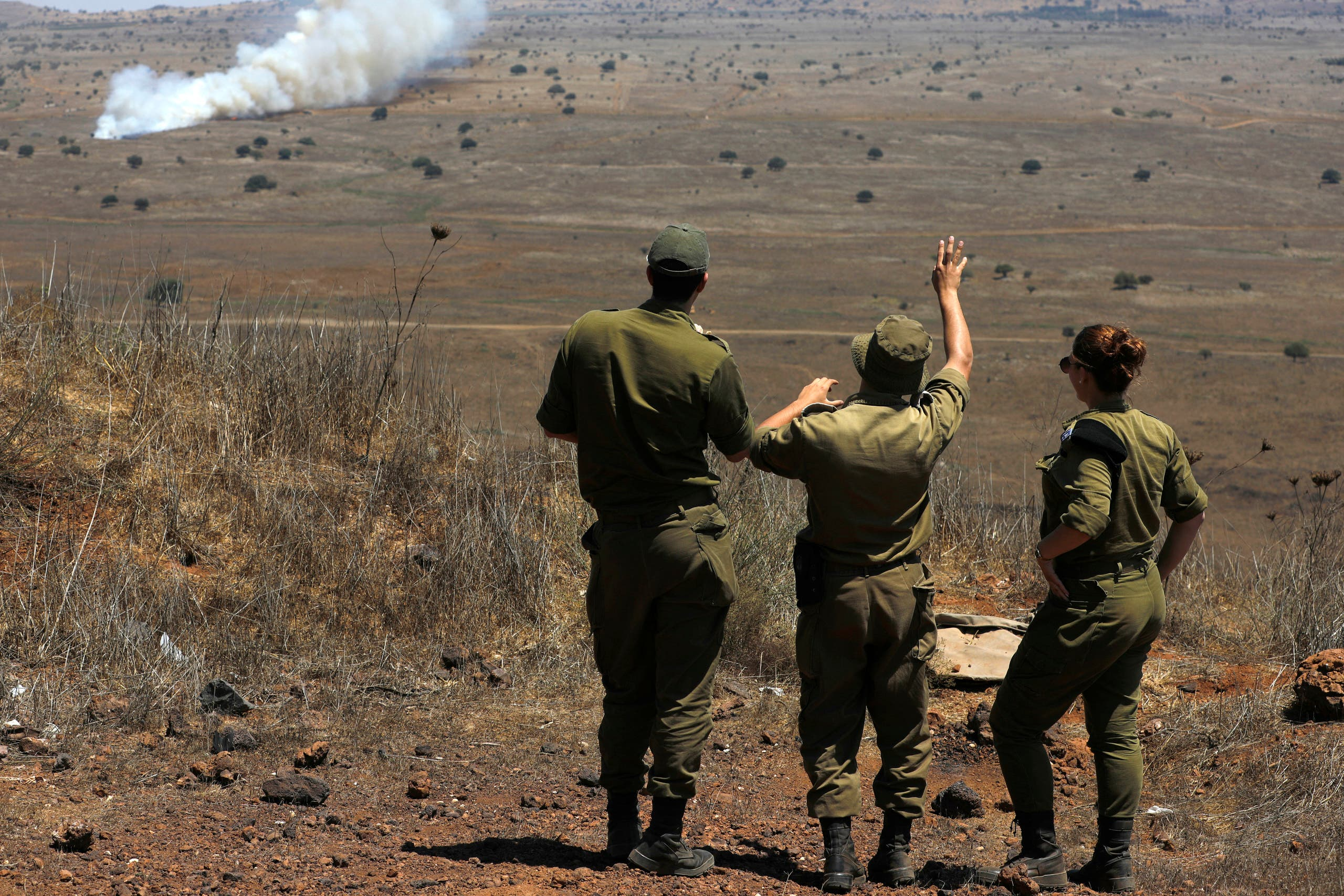 من الحدود السورية الإسرائيلية (أرشيفية- فرانس برس)