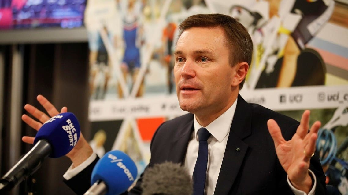 David Lappartient, newly elected President of the UCI, attends a news conference in Bergen, Norway. (File photo: Reuters)