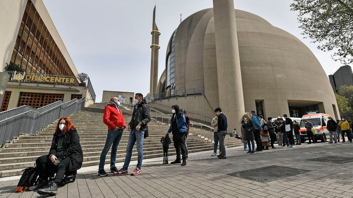 The forum of the DITIB central mosque in Cologne, Germany. (File photo: AP)