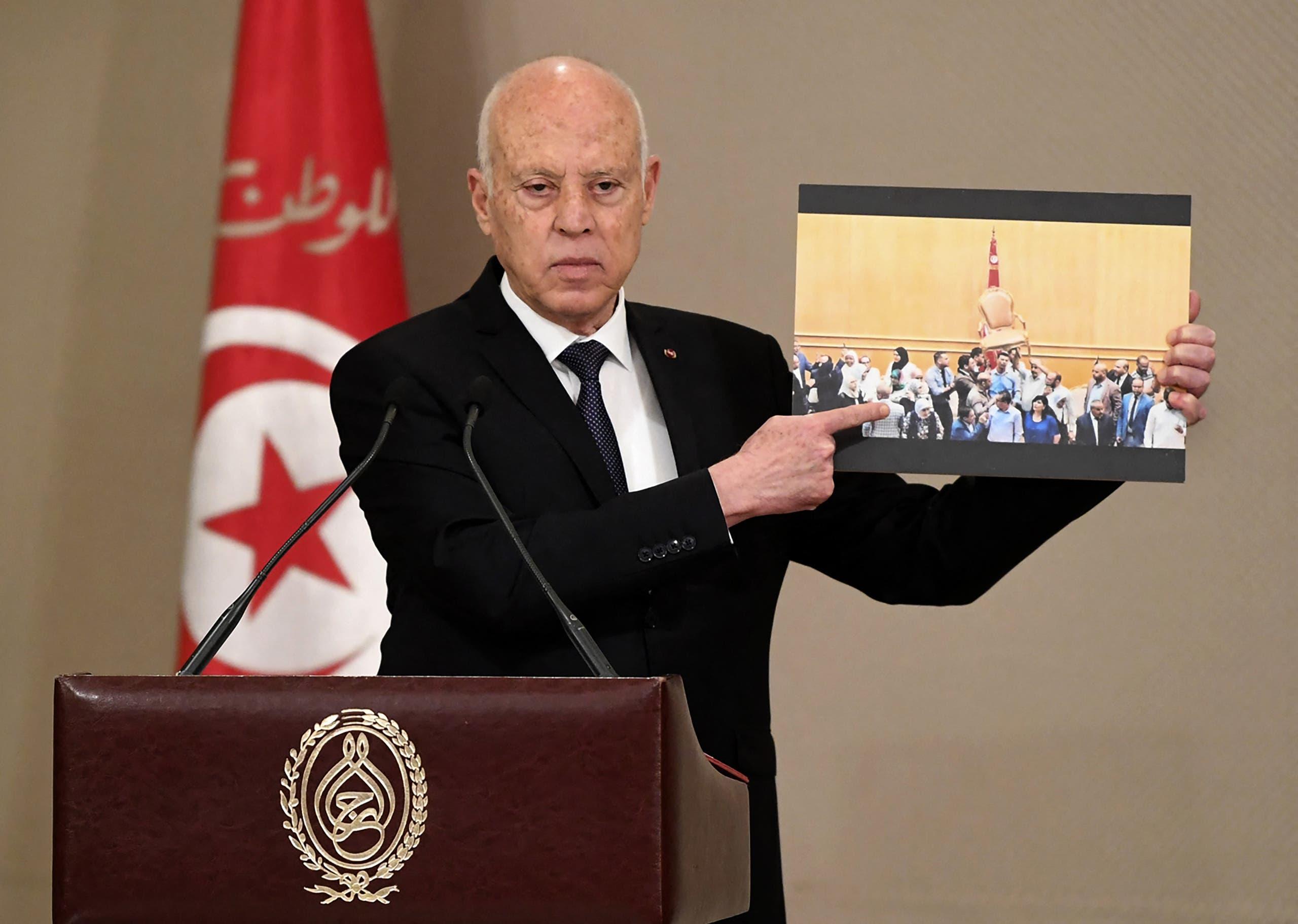 الرئيس التونسي قيس سعيد  (فرانس برس)
