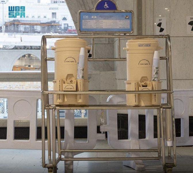 عودة حافظات زمزم في المسجد الحرام