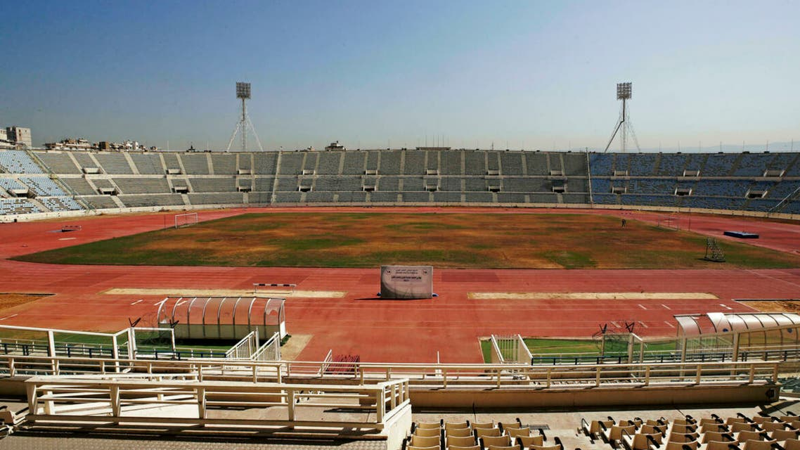 A general view shows the deterioration of Camille Chamoun Sports City Stadium in Beirut, Lebanon. (AFP)
