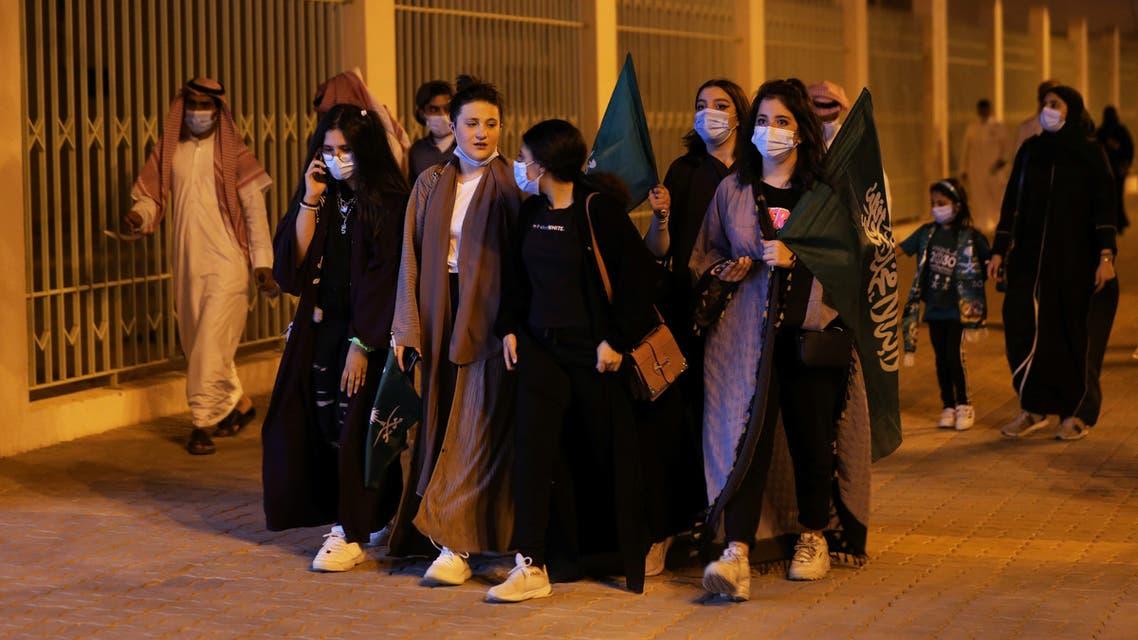 People celebrate Saudi Arabia's 90th annual National Day, amid the spread of the coronavirus disease (COVID-19) in Riyadh, Saudi Arabia September 23, 2020. (File photo: Reuters)