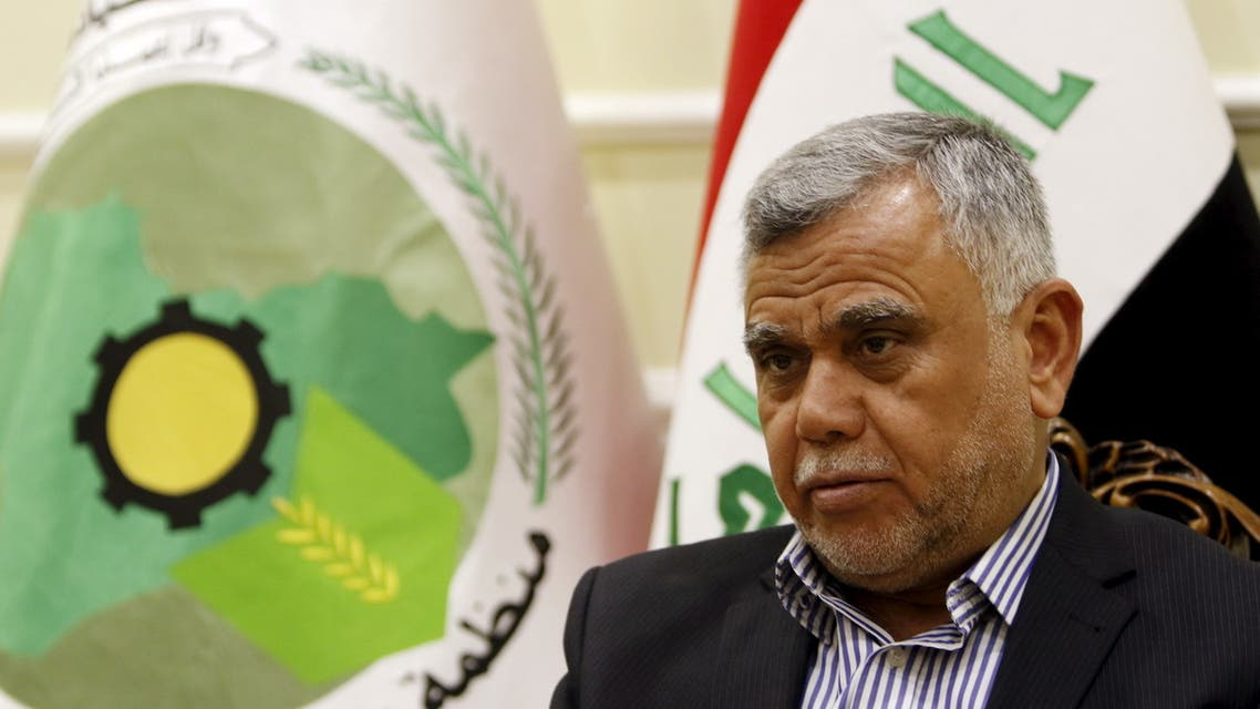 Hadi al-Amiri, one of the most powerful pro-Iranian figures in Iraq in Baghdad, January 25, 2016. (File photo: Reuters)