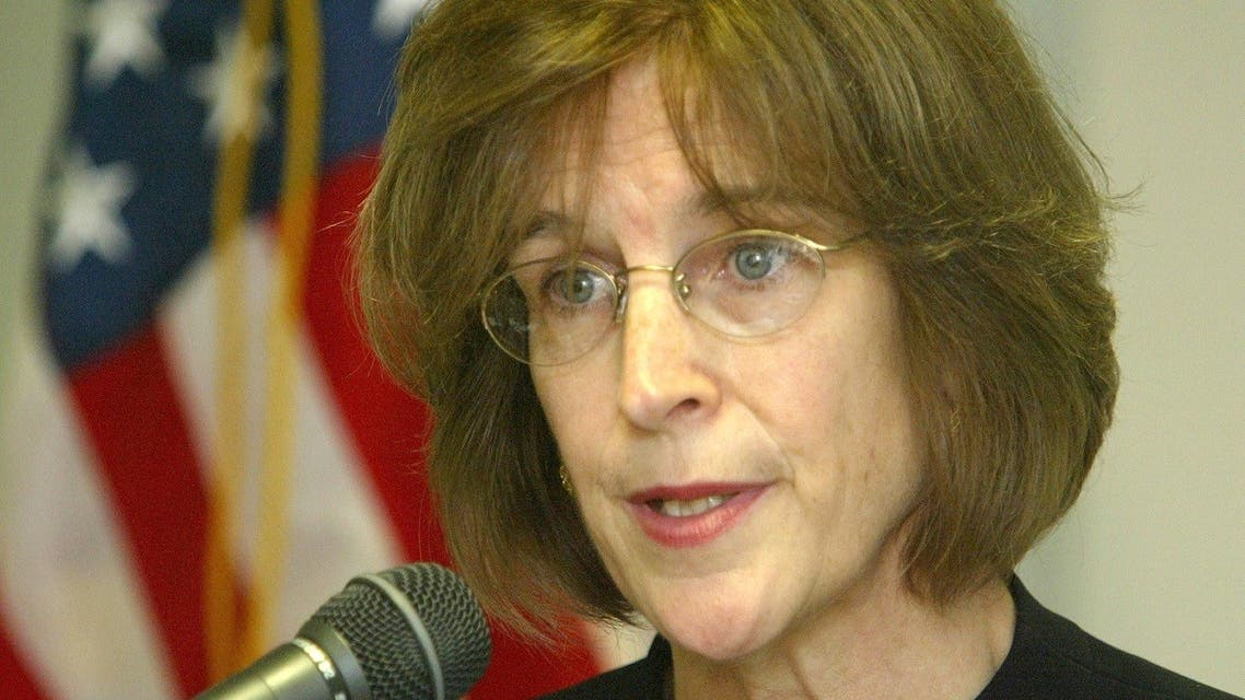 Then-Assistant Secretary of State for European and Eurasian Affairs Elizabeth Jones speaks at a news conference in Almaty July 16, 2004. (File Photo: Reuters)