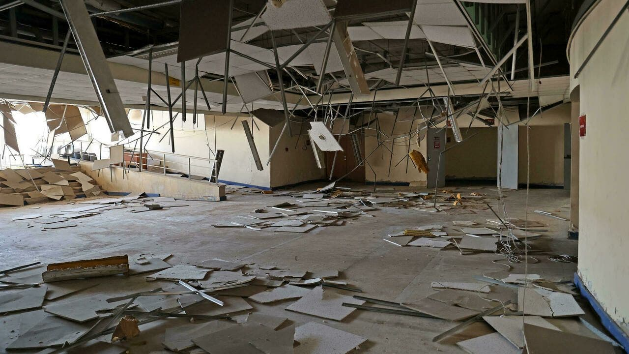 The deterioration of Camille Chamoun Sports City Stadium in Beirut, Lebanon. (AFP)