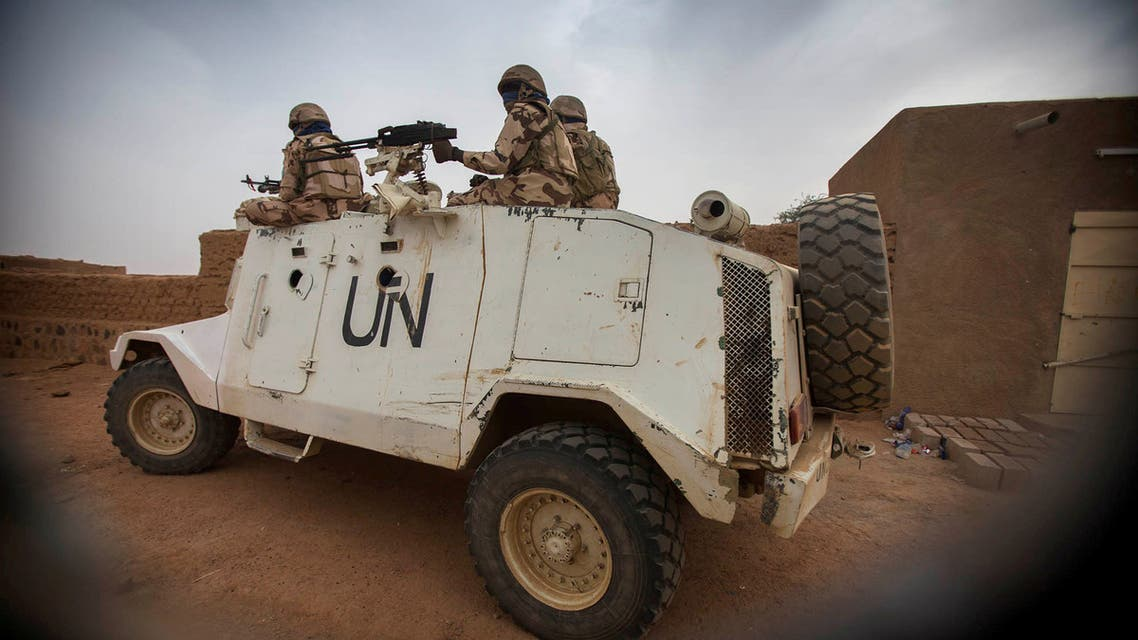 Members of MINUSMA Chadian contingent patrol in Kidal, Mali December 17, 2016. Picture taken December 17, 2016. MINUSMA/Sylvain Liechti handout via REUTERS ATTENTION EDITORS - THIS PICTURE WAS PROVIDED BY A THIRD PARTY.