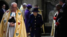 Queen Elizabeth uses walking stick for first time in public