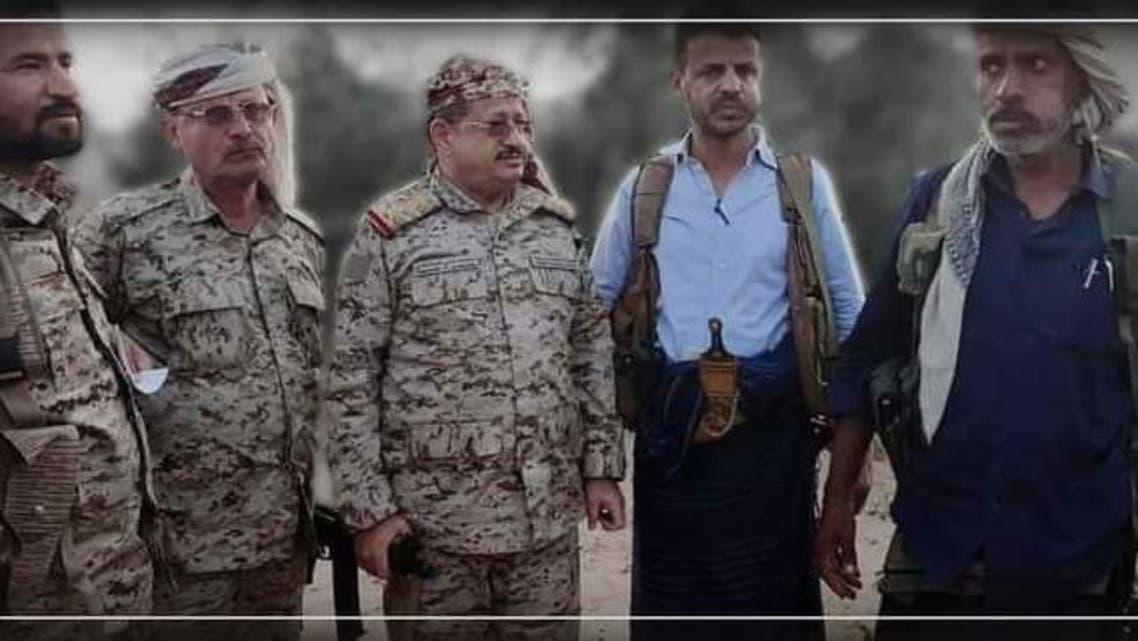 وزير الدفاع اليمني الفريق محمد المقدشي في جنوب مأرب