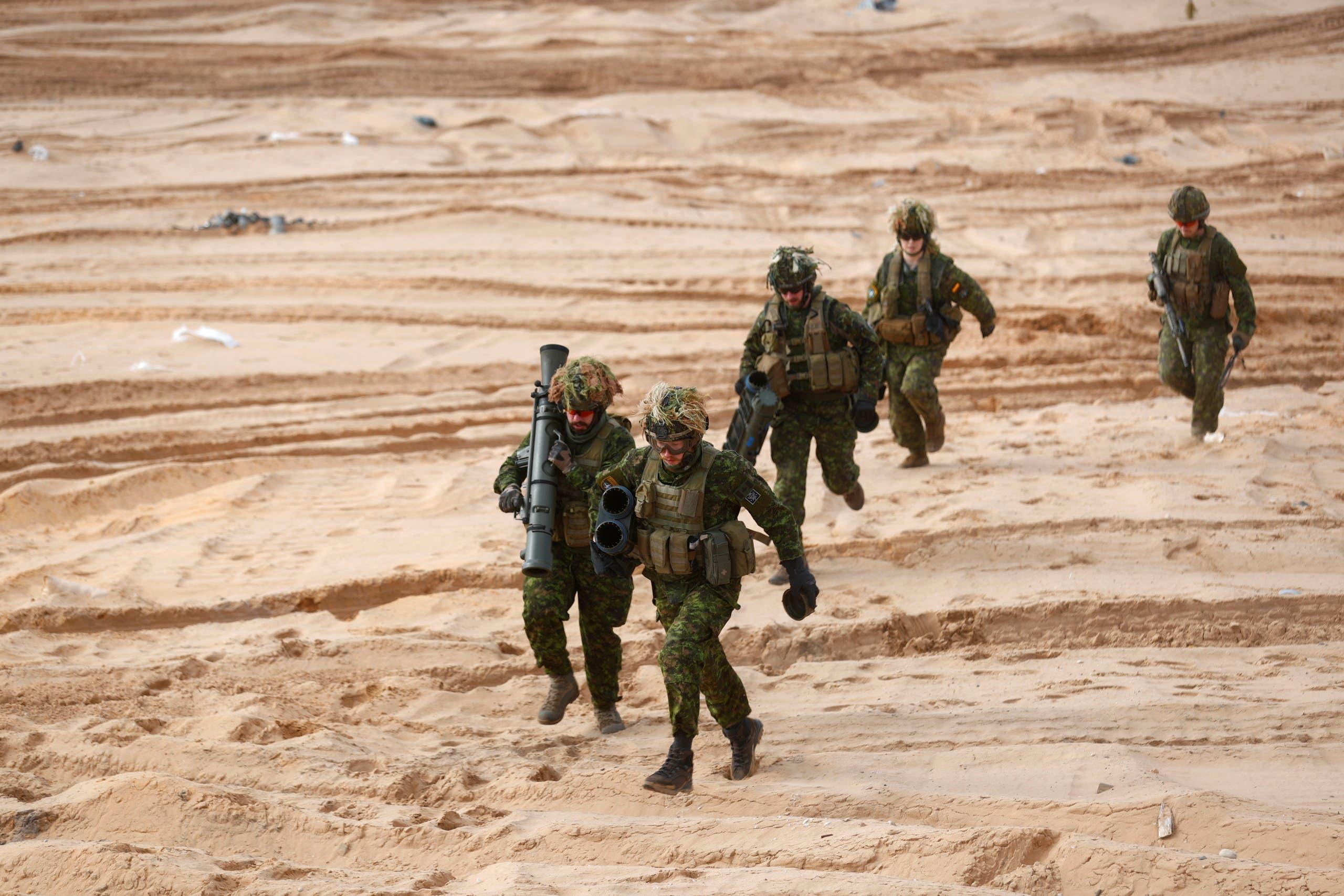 تدريب لقوات الناتو في لاتفيا في مارس الماضي