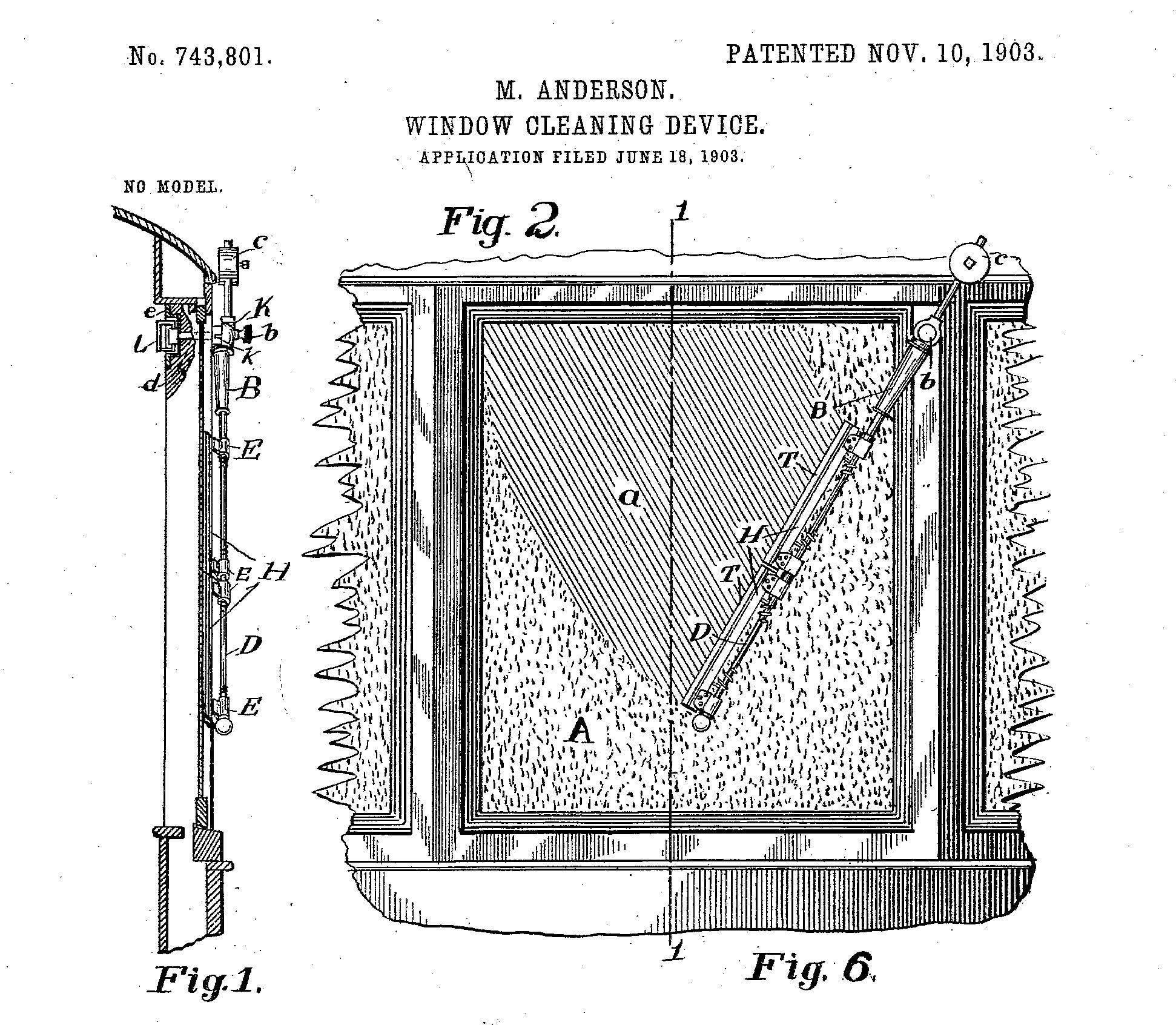رسم توضيحي لإختراع ماري أندرسون