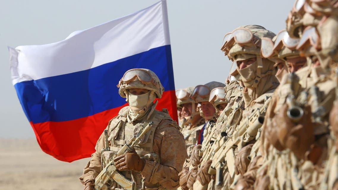 Russian servicemen participate in joint military drills involving Russia, Uzbekistan and Tajikistan, at the Harb-Maidon training ground, located near the Tajik-Afghan border in the Khatlon Region of Tajikistan August 10, 2021. REUTERS/Didor Sadulloev