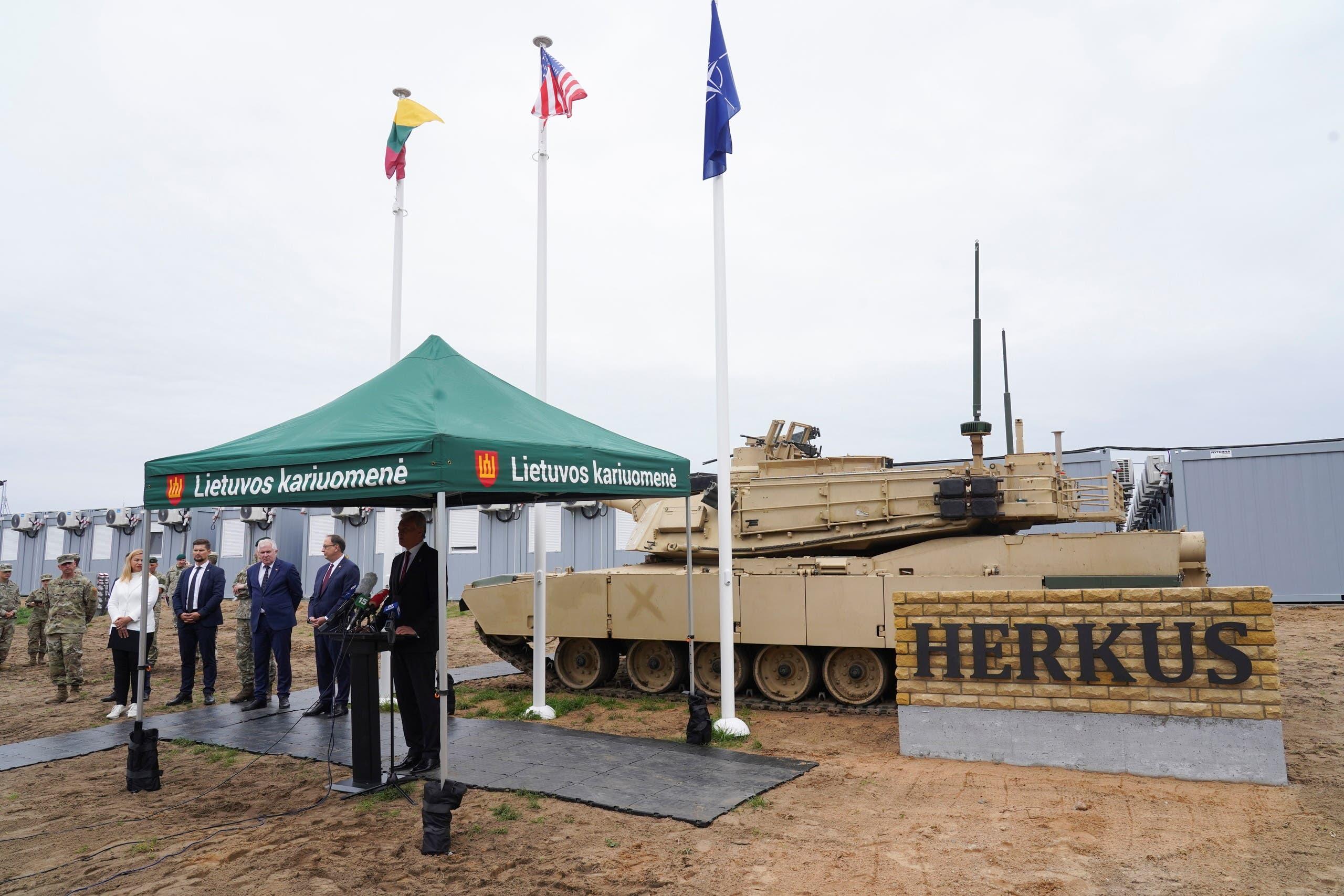 افتتاح قاعدة عسكرية جديدة في ليتوانيا في أغسطس الماضي