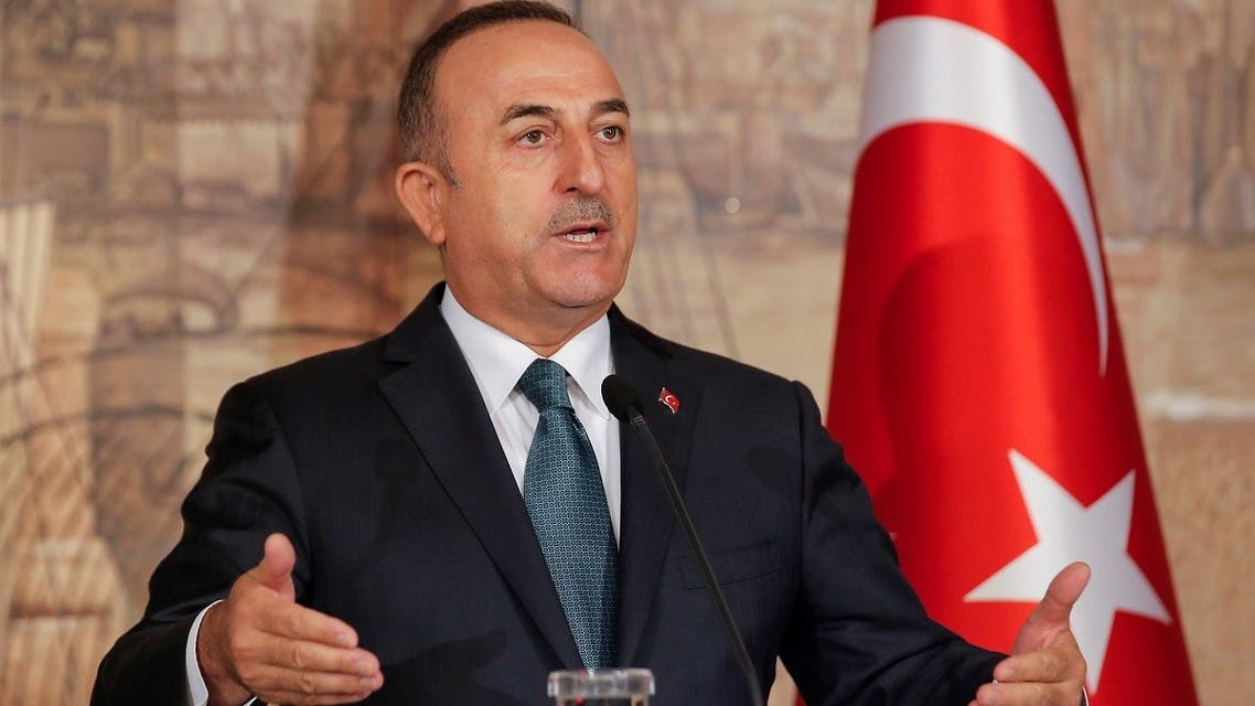 Turkish Foreign Minister Mevlut Cavusoglu attends a news conference in Istanbul, Turkey. (Reuters)