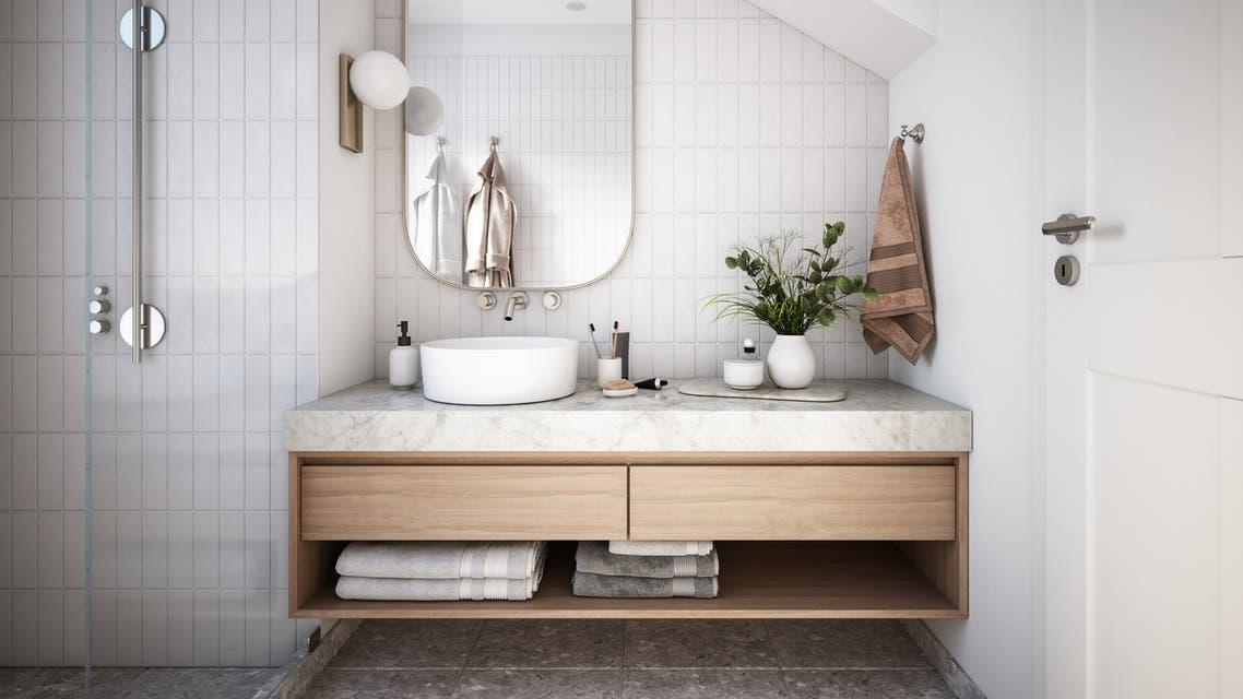 Modern Bathroom Interior stock photo stock photo