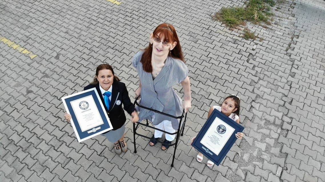 Standing at 7 feet, 0.7 inches) tall, Turkey's Rumeysa Gelgi has claimed the Guinness World Record title for being the world's tallest living woman. (Supplied)