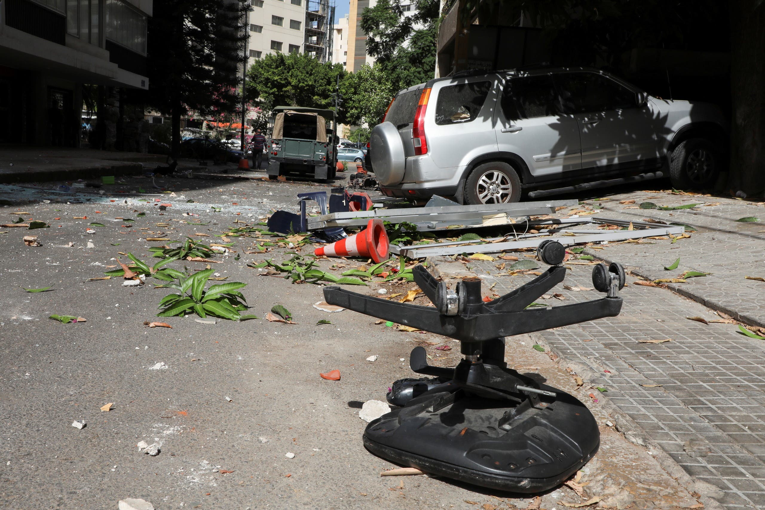 From the scene of the clashes in Beirut (Reuters)