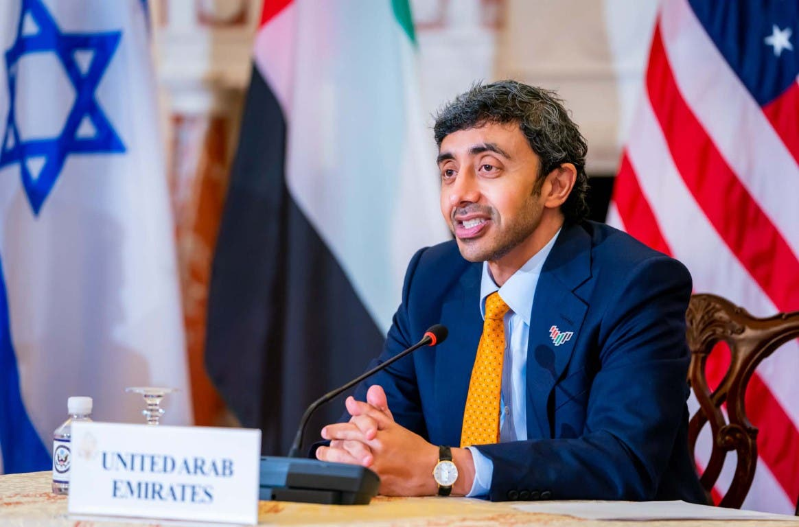 Sheikh Abdullah bin Zayed Al Nahyan, Minister of Foreign Affairs and International Cooperation for the United Arab Emirates, met in Washington DC the Secretary of State Antony J. Blinken and Israeli Foreign Minister Yair Lapid. (Supplied: Wam)