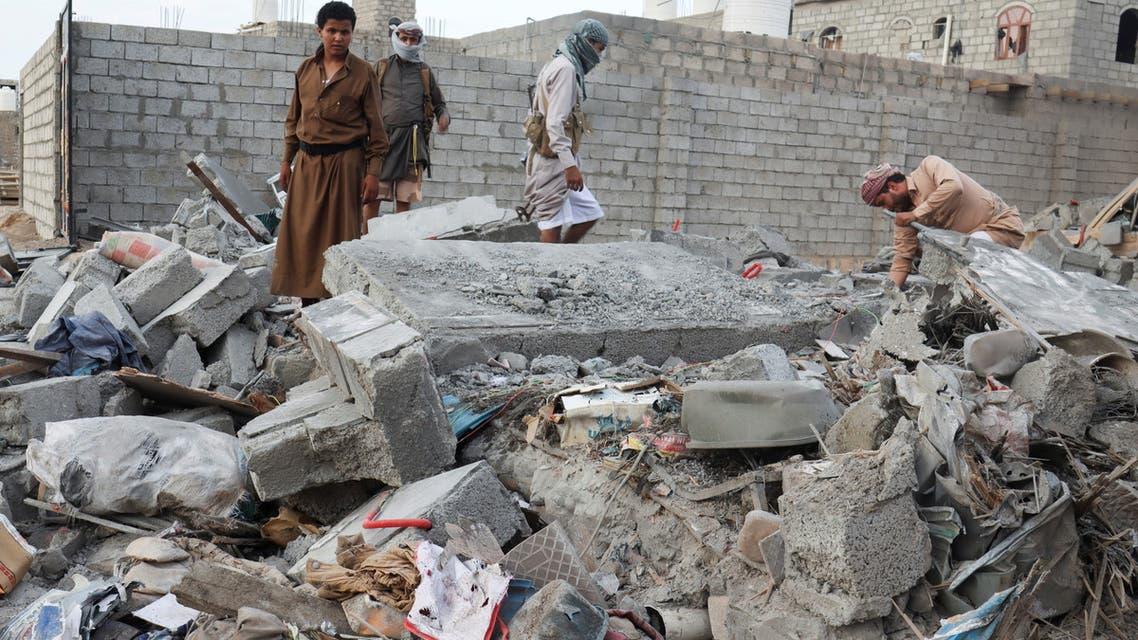 قصف حوثي على مأرب(أرشيفية- رويترز)