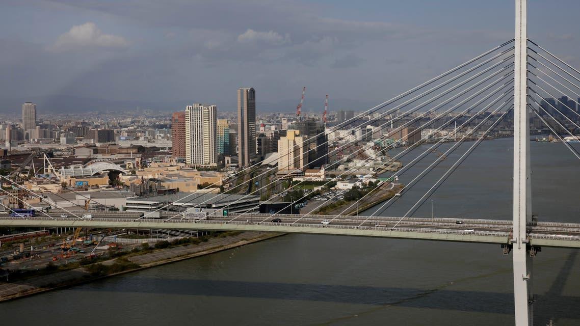 The Tempozan bridge crosses Osaka, Japan October 23, 2017. (Reuters)