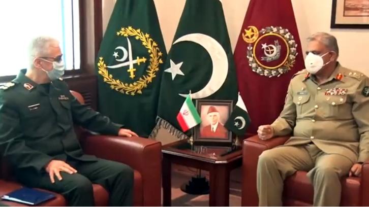 ایرانی فوج کے سربراہ کی پاکستانی سپہ سالار سے جی ایچ کیو میں ملاقات