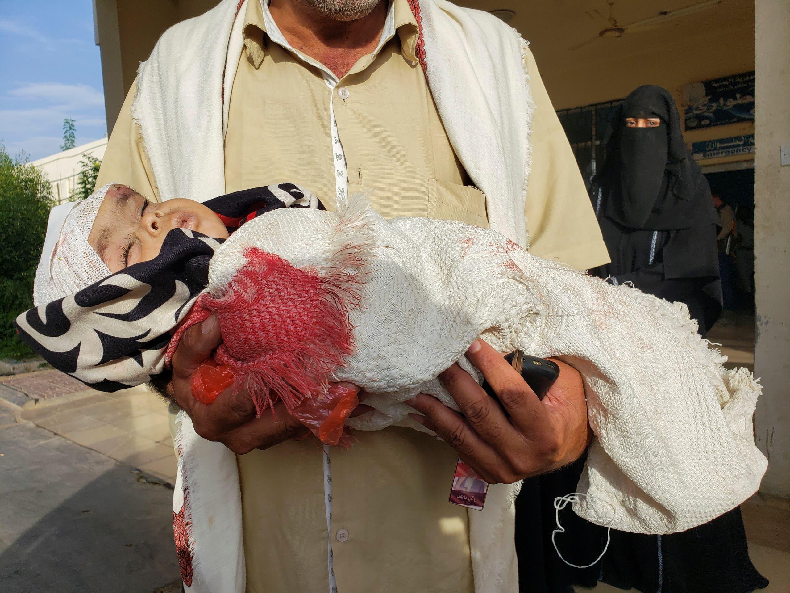 إصابة طفلة جراء قصف حوثي على مأرب(أرشيفية- رويترز)