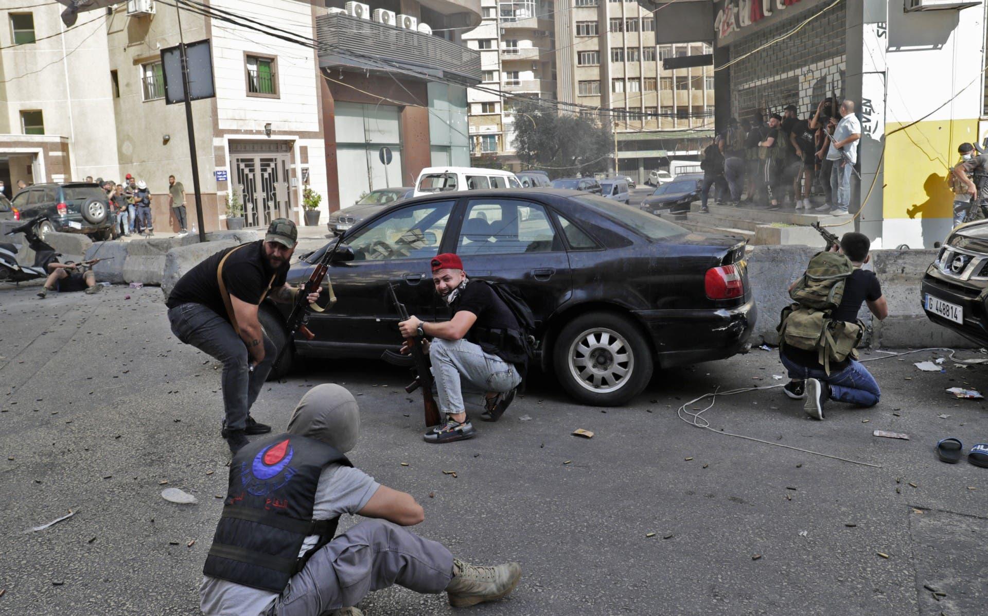 من أحداث بيروت 14-10-2022 (فرانس برس)