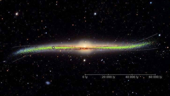 کهکشان راه شیری شبیه حرف «اس» انگلیسی است