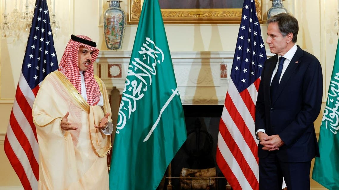 وزير الخارجية السعودي ونظيره الأميركي (فرانس برس)