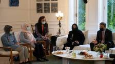 Female former Afghan lawmakers, judges meet Greek PM
