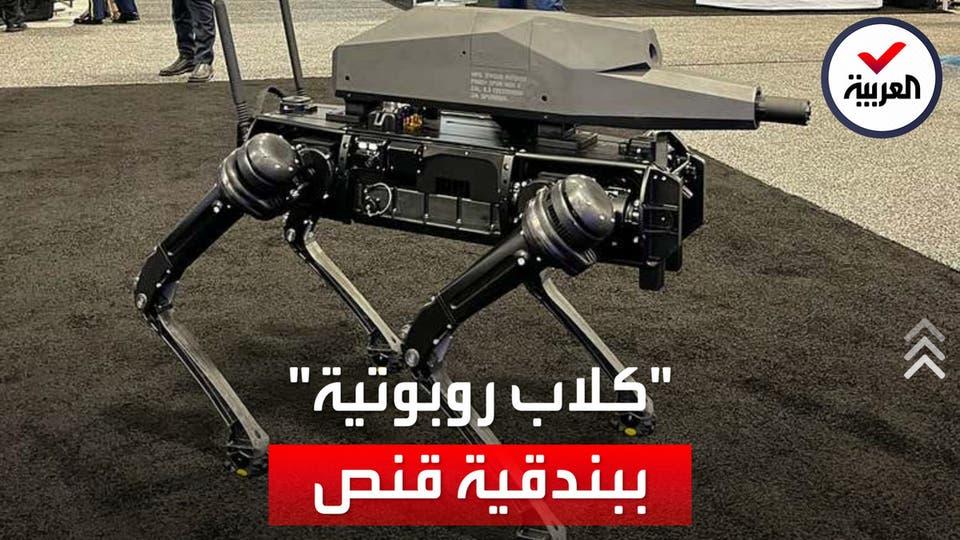 مزود ببندقية قنص تصيب الأهداف حتى 1200 متر.. أول كلب آلي مسلح