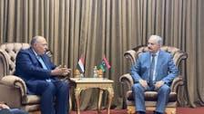 شكري يلتقي حفتر ويؤكد دعم مصر الكامل لأمن واستقرار ليبيا