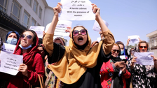 Taliban strike journalists covering women's rights protest in Kabul