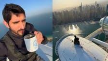 فيديو يحبس الأنفاس.. ولي عهد دبي بمغامرة مثيرة على ارتفاع 250 مترا