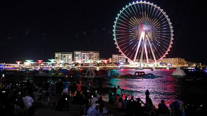 Dubai eye, world's tallest observation wheel, opens with lavish firework show