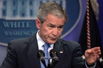 بوش يقول إن صبره على الأسد نفد ويستبعد الحوار المباشر مع سوريا