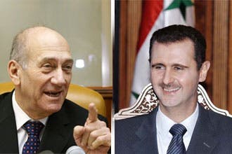أولمرت ينتظر من الأسد إجابة حول إمكانية عقد مفاوضات سلام