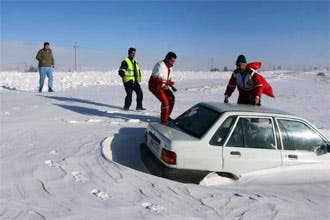 Eight freeze to death in record Iran snowfalls