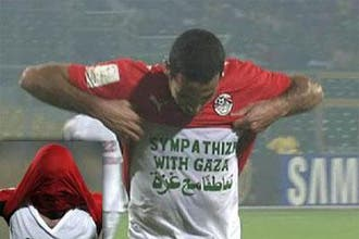 Egypt midfielder warned over Gaza slogan