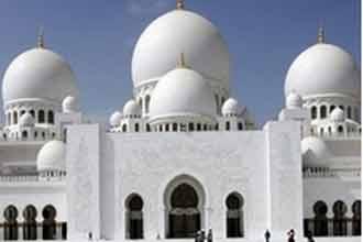 Marble splendour awaits visitors to UAE mosque