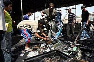 53 قتيلاً عراقياً ومئات الجرحى بتفجيرات ضد مطاعم في ديالى والأنبار