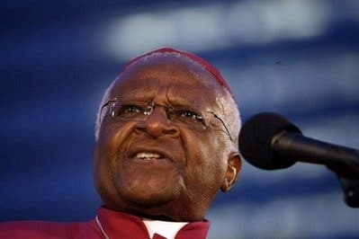 Palestinians are paying for Holocaust guilt: Tutu